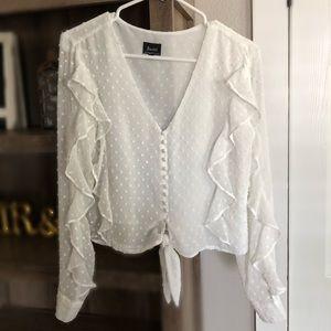 ✨Bardót white blouse